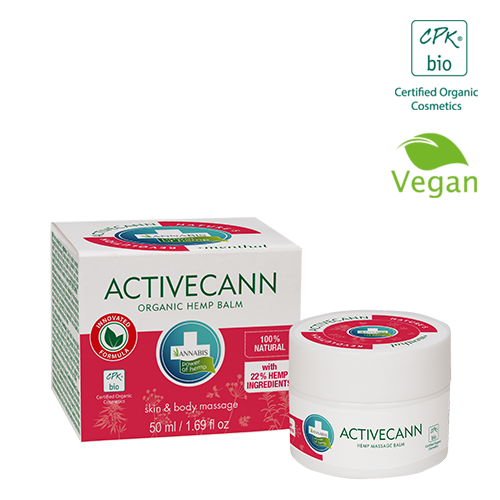 Annabis activecann organic hemp balm for massage