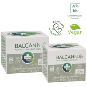 Annabis balcann oak tree bark organic hemp balm